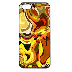 Colourful Abstract Background Design Apple Iphone 5 Seamless Case (black) by Simbadda