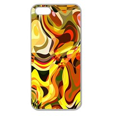 Colourful Abstract Background Design Apple Seamless Iphone 5 Case (clear) by Simbadda