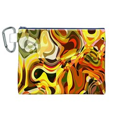 Colourful Abstract Background Design Canvas Cosmetic Bag (xl) by Simbadda