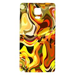 Colourful Abstract Background Design Galaxy Note 4 Back Case by Simbadda