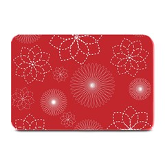 Floral Spirals Wallpaper Background Red Pattern Plate Mats by Simbadda