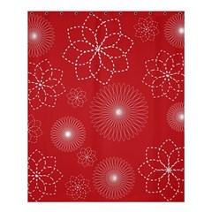 Floral Spirals Wallpaper Background Red Pattern Shower Curtain 60  X 72  (medium)  by Simbadda
