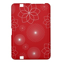 Floral Spirals Wallpaper Background Red Pattern Kindle Fire Hd 8 9  by Simbadda