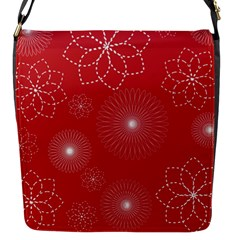 Floral Spirals Wallpaper Background Red Pattern Flap Messenger Bag (s) by Simbadda