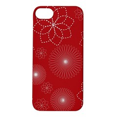 Floral Spirals Wallpaper Background Red Pattern Apple Iphone 5s/ Se Hardshell Case by Simbadda