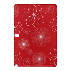 Floral Spirals Wallpaper Background Red Pattern Samsung Galaxy Tab Pro 12 2 Hardshell Case by Simbadda