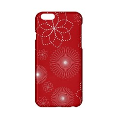 Floral Spirals Wallpaper Background Red Pattern Apple Iphone 6/6s Hardshell Case by Simbadda