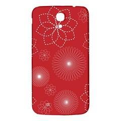 Floral Spirals Wallpaper Background Red Pattern Samsung Galaxy Mega I9200 Hardshell Back Case by Simbadda