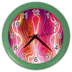 Fire Flames Abstract Background Color Wall Clocks by Simbadda