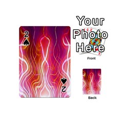 Fire Flames Abstract Background Playing Cards 54 (mini)  by Simbadda