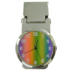 Colorful Stipple Effect Wallpaper Background Money Clip Watches by Simbadda