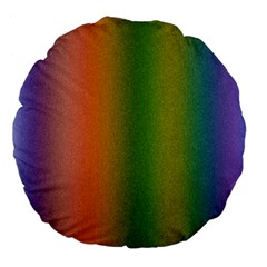 Colorful Stipple Effect Wallpaper Background Large 18  Premium Flano Round Cushions by Simbadda
