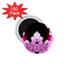Fractal In Pink Lovely 1 75  Magnets (100 Pack)  by Simbadda