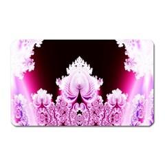 Fractal In Pink Lovely Magnet (rectangular) by Simbadda