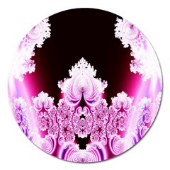 Fractal In Pink Lovely Magnet 5  (round) by Simbadda