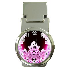 Fractal In Pink Lovely Money Clip Watches by Simbadda