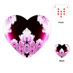 Fractal In Pink Lovely Playing Cards (heart)  by Simbadda