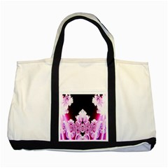 Fractal In Pink Lovely Two Tone Tote Bag by Simbadda