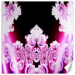 Fractal In Pink Lovely Canvas 16  X 16   by Simbadda