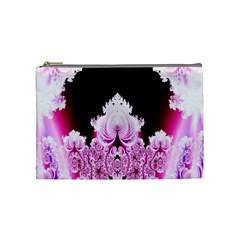 Fractal In Pink Lovely Cosmetic Bag (medium)  by Simbadda