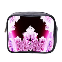 Fractal In Pink Lovely Mini Toiletries Bag 2 Side by Simbadda