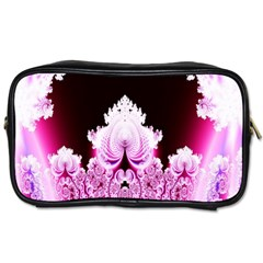 Fractal In Pink Lovely Toiletries Bags by Simbadda