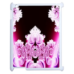 Fractal In Pink Lovely Apple Ipad 2 Case (white) by Simbadda