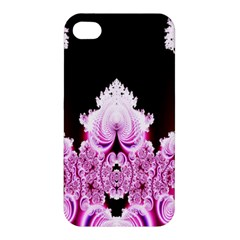 Fractal In Pink Lovely Apple Iphone 4/4s Premium Hardshell Case by Simbadda