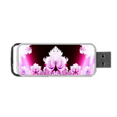 Fractal In Pink Lovely Portable Usb Flash (two Sides) by Simbadda