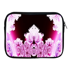 Fractal In Pink Lovely Apple Ipad 2/3/4 Zipper Cases by Simbadda
