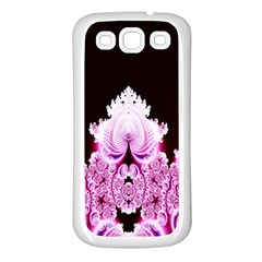 Fractal In Pink Lovely Samsung Galaxy S3 Back Case (white) by Simbadda