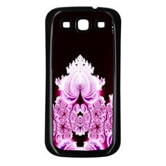 Fractal In Pink Lovely Samsung Galaxy S3 Back Case (black) by Simbadda