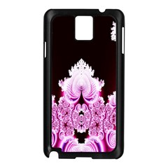 Fractal In Pink Lovely Samsung Galaxy Note 3 N9005 Case (black) by Simbadda