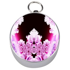 Fractal In Pink Lovely Silver Compasses by Simbadda