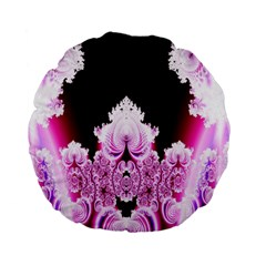 Fractal In Pink Lovely Standard 15  Premium Flano Round Cushions by Simbadda