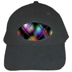 Soft Balls In Color Behind Glass Tile Black Cap by Simbadda