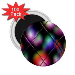 Soft Balls In Color Behind Glass Tile 2 25  Magnets (100 Pack)  by Simbadda