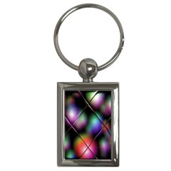 Soft Balls In Color Behind Glass Tile Key Chains (rectangle)  by Simbadda