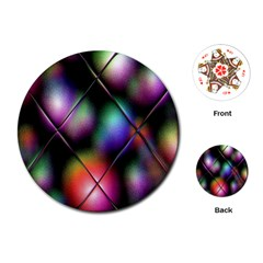 Soft Balls In Color Behind Glass Tile Playing Cards (round)  by Simbadda