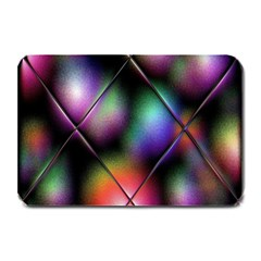 Soft Balls In Color Behind Glass Tile Plate Mats by Simbadda