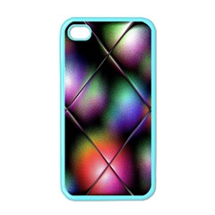 Soft Balls In Color Behind Glass Tile Apple Iphone 4 Case (color) by Simbadda