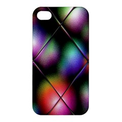 Soft Balls In Color Behind Glass Tile Apple Iphone 4/4s Premium Hardshell Case by Simbadda