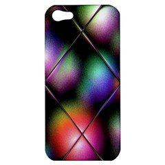 Soft Balls In Color Behind Glass Tile Apple Iphone 5 Hardshell Case by Simbadda