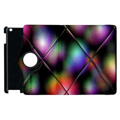 Soft Balls In Color Behind Glass Tile Apple Ipad 2 Flip 360 Case by Simbadda
