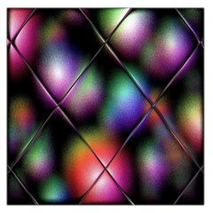 Soft Balls In Color Behind Glass Tile Large Satin Scarf (square) by Simbadda