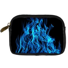 Digitally Created Blue Flames Of Fire Digital Camera Cases by Simbadda