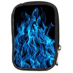 Digitally Created Blue Flames Of Fire Compact Camera Cases by Simbadda