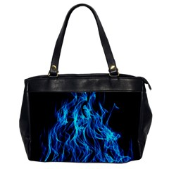 Digitally Created Blue Flames Of Fire Office Handbags by Simbadda