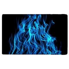 Digitally Created Blue Flames Of Fire Apple Ipad 2 Flip Case by Simbadda