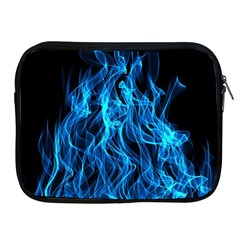 Digitally Created Blue Flames Of Fire Apple Ipad 2/3/4 Zipper Cases by Simbadda